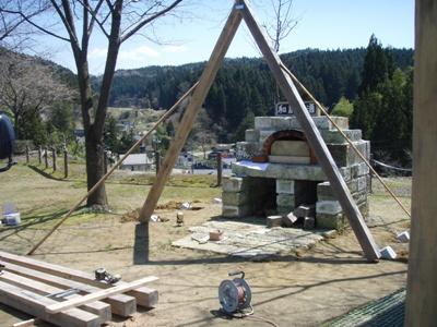 ピザ窯屋根02