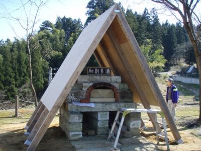 ピザ窯屋根06
